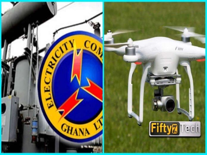 ecg ghana drone