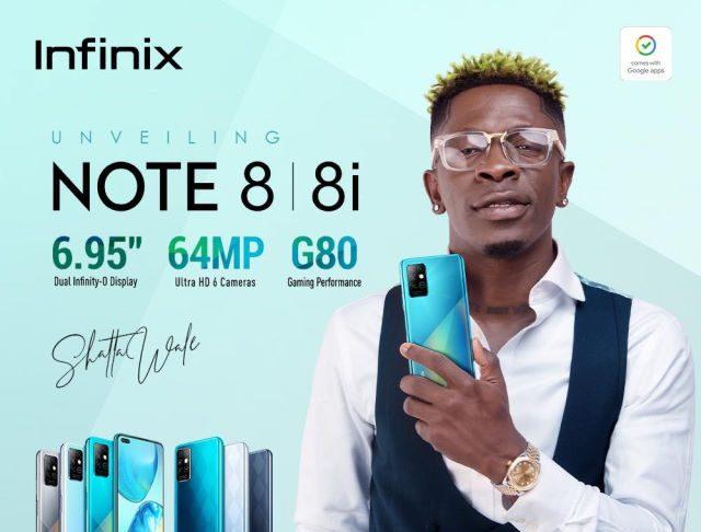 infinix note 8 shatta wale